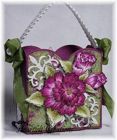 Heartfelt Creations | Elegant Burgundy Blossom Gift Bag