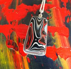 Fordite and Sterling Silver by jamesblanchard