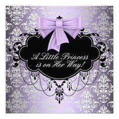 Silver Purple Black Princess Baby Girl Shower Personalized Announcement http://www.zazzle.com/silver_purple_black_princess_baby_girl_shower_invitation-161717800506684769?rf=238835258815790439&tc=ptkpin1 #purple #babygirl #babyshower