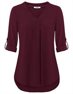 online shopping for Youtalia Womens Cuffed Sleeve Chiffon Printed V Neck Casual Blouse Shirt Tops from top store. See new offer for Youtalia Womens Cuffed Sleeve Chiffon Printed V Neck Casual Blouse Shirt Tops Mode Kimono, Tops Online Shopping, Branded Shirts, Women Brands, Chiffon Tops, Chiffon Blouses, Shirt Blouses, Polo Shirts, Blouse Designs