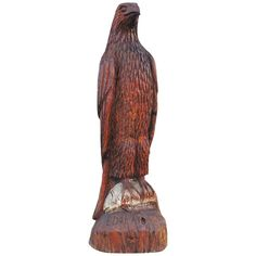 Monumental Hand Carved Wood  Folk Art Eagle | From a unique collection of antique and modern sculptures and carvings at http://www.1stdibs.com/furniture/folk-art/sculptures-carvings/