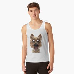 surprised dog face Surprised Dog, Shark, Tank Tops, Face, Dogs, Women, Halter Tops, Pet Dogs, The Face