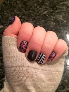 Butterfly Effects, Tungsten Sparkle, and Black & White Chevron #jamberry…