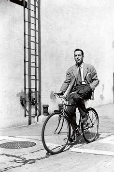 Humphrey Bogart on the backlot at Warner Brothers, 1942