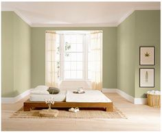 Inspirational photos of cool and warm color schemes and interior paint schemes, along with ideas for decorating with interior paints and choosing color schemes.: Cool Color Scheme for a Bedroom Behr Paint Colors, Room Paint Colors, Bedroom Colors, Bedroom Ideas, Warm Color Schemes, Warm Colors, Living Room Paint, My Living Room, Coastal Bedrooms