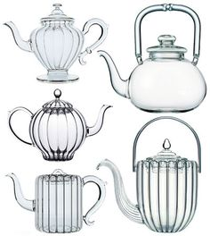 hand-blown glass teapots , Parisian salon de thé  - Mariage Freres -  perfect for L'etoiles - tea balls that open in the boiling water and form stars.