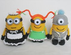 Ravelry: Cute little yellow monsters pattern by Amigurumi Fair