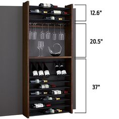 Buy the Corsica Triple Depth Vertical Display Wood and Metal Wine Rack at Wine Enthusiast – we are your ultimate destination for wine storage, wine accessories, gifts and more! Wine Rack Inspiration, Unique Wine Racks, Wine Rack Design, Wine Dispenser, Wine Rack Wall, Wood Wine Racks, Wine Cabinets, Italian Wine, Wine Storage