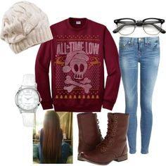 """""""Holiday Outfit"""" by justadizzydreamer on Polyvore"""