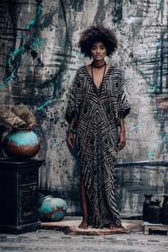 Desert Kaftan Long Kimono-Style Dress by Alekai Tribal Fashion, Kimono Fashion, African Fashion, Boho Fashion, Fashion Dresses, Vintage Fashion, Desert Fashion, Corsets, Kimono Style Dress
