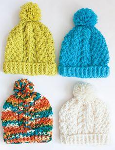 Yarnspirations.com - Bernat Chill Chaser - Hat  - Patterns  | knit | free pattern