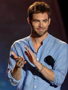 CHRIS PINE. we'll applaud you every day!