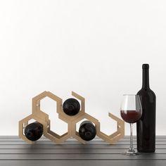 Botellero Apilable Hexagonal De TRESENCAJA Por DaWanda.com · Wood  WorkOriginalsBathroomForma HexagonalIdeasCncPresentationBottlesBottle Rack