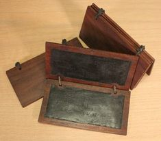 Waxed Tablets and Stylus  How to make and Use Them - an option if ever paper wasn't an option any longer? Interesting idea - medieval writing tablet