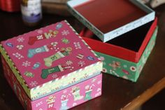 Use these decorative boxes for gifts or turn them into kids' Christmas wishlist box. Have them write their wishes and tuck them away in a box and see which ones came true on Christmas Day.