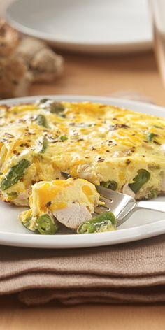 Leftover turkey and green bean casserole star in this flavorful frittata recipe for a quick entree anytime after the holiday dinner Recipe developed by George Duran for ReadySetEat