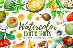 watercolor fruits vol. 6 by iGRAPHOBIA on @creativemarket