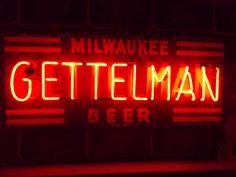 Gettelman beer neon sign, Sprecher Brewery, Milwaukee, Wisconsin
