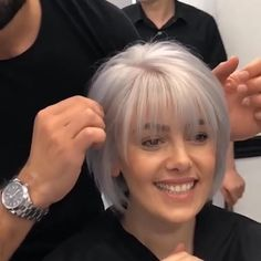 Hair Styles For Women Over 50, Short Hair Cuts For Women, Medium Hair Styles, Short Hair Styles, Hair Medium, Short Cuts, Plait Styles, Grey Hair Styles, Hairstyles Over 50