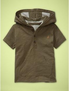 Hooded henley shirt | Gap in 18-24 months for the fall:  )
