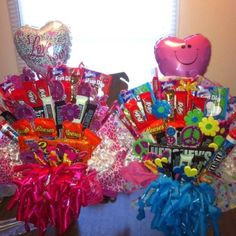 Valentine Candy bouquets I made