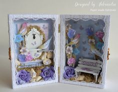 Fairytale Chest box made with Prima papers and embellishments.
