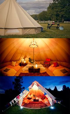 If camping isn't quite your thing. try glamping! Glamping takes all the greatest comforts of home and brings them outside. Camping Glamping, Camping Life, Family Camping, Camping Gear, Camping Hacks, Camping Equipment, Outdoor Fun, Outdoor Camping, Camping Outdoors