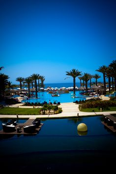 Overlooking the big pool at the Barcelo Los Cabos