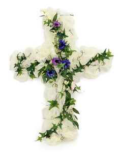 Diy Easter Cross Wreath with Video Tutorial