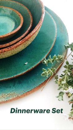Dinner Sets, Dinnerware Sets, Safe Food, Stoneware, Pottery, Clay, Plates, Simple, Tableware