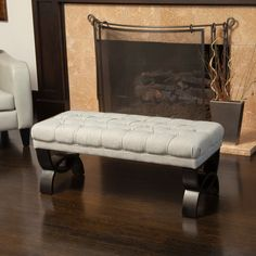 Christopher Knight Home Scarlette Tufted Fabric Ottoman Bench   Overstock™ Shopping - Great Deals on Christopher Knight Home Ottomans
