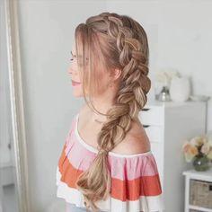 French Braid Hairstyles, Braided Hairstyles Tutorials, Easy Hairstyles For Long Hair, Braid Tutorials, Prom Hairstyles, Hairstyle Wedding, Halloween Hairstyles, Hairstyle Short, School Hairstyles