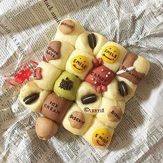 #お菓子 な #ちぎりパン * 買ってきたはずのシュガーコーンが見当たらず… ちょっぴり残念なコトになりました * * I like bread I also like chocolate * * ✂︎ ------------- ↔︎