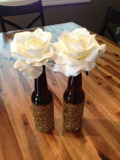 Beer bottle craft..this would be cute using a wine bottle
