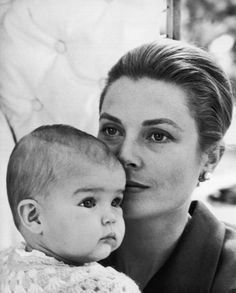 // Grace & Family:  Princess Grace pictured with her daughter Princess Stephanie by Cecil Beaton, 1965