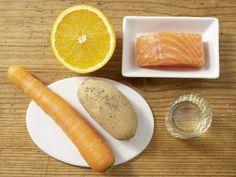 Zutaten für das Rezept: Möhrenbrei mit Lachsfilet