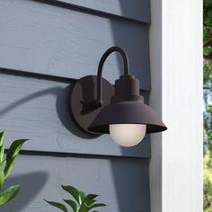 Outdoor Wall Lighting & Barn Lights You'll Love in 2019 Black Outdoor Wall Lights, Outdoor Barn Lighting, Outdoor Ceiling Fans, Outdoor Sconces, Outdoor Wall Lantern, Exterior Lighting, Outdoor Walls, Luminaire Led, Candelabra Bulbs