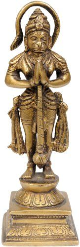The Humble Hanuman - Brass Statue Exotic India,http://www.amazon.com/dp/B00IBJ6AWO/ref=cm_sw_r_pi_dp_63Vrtb1D189Q6KZA