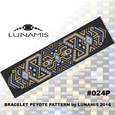 Peyote bracelet pattern odd count peyote por LunamisBeadsPatterns