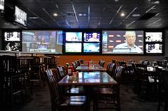 Sport Bar Design On Pinterest Sports Bar Decor