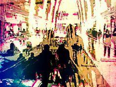 'People in the shopping mall' von Gabi Hampe bei artflakes.com als Poster oder Kunstdruck $23.56