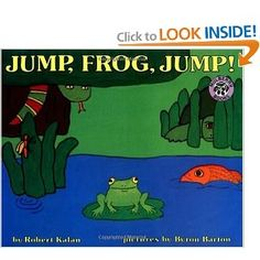 """This is a great book for Pre-K kids.  I read it to my 2 and 3-year-olds at daycare this summer a lot.  It has a lot of repition and the kids love repeating """"Jump, Frog, Jump!"""" every 4th page or so."""