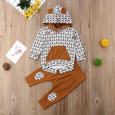 It's Somewhere 2 Piece Sweater & Pants Baby Boy Clothing Sets, Cute Baby Clothes, Bear Hoodie, Sweater Hoodie, Baby Bear Outfit, Toddler Boy Outfits, Baby Outfits, Kids Outfits, Kids Pants