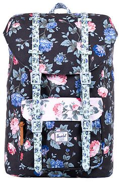 The Little American Mid Volume Backpack in Floral by Herschel Supply Co. use rep code: OLIVE for 20% off!