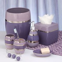1000 images about lavender bathrooms on pinterest for Purple bathroom bin