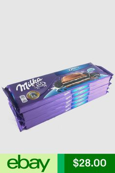 5 x Milka Oreo Chocolate Bars, gr. Milka Chocolate, Oreo, Packing, Candy, Garden, Ebay, Bag Packaging, Sweet, Garten