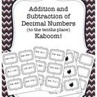 This is a great Kaboom game to practice addition and subtraction of decimal numbers to the tenths place. It can be played whole class or in small g...