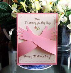 Día de la madre tarjeta abrazos te amo este mucho por RightBrainy