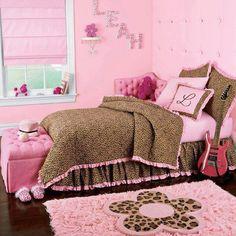 adorable girl's #bedroom #pink #leopard