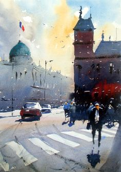 Joseph Zbukvic painting course day 2 - Original Watercolours by ...
